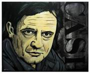 Original Johnny Cash Painting