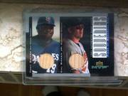 Cal Ripken Jr   Tony Gwynn Bat Card — 2001 UD MVP #B-3K
