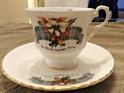 1971 British Columbia Centennial Cup and Saucer 49 years old